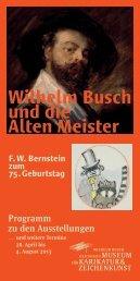 Wilhelm Busch und die Alten Meister - Wilhelm-Busch-Museum