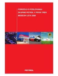 Poročilo o poslovanju skupine Petrol v prvih treh mesecih leta 2008