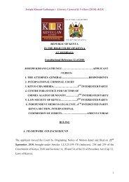 Joseph Kimani Gathungu v Attorney General & 5 others - Kenya Law ...