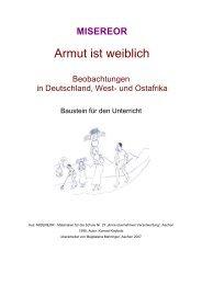 Armut ist weiblich. Beobachtungen in Deutschland, West