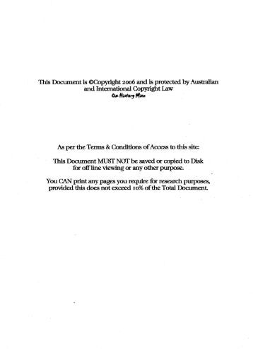 This Document is ©Copyrlght 2006 and is ... - Ozhistorymine.biz