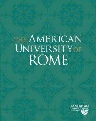 AUR Viewbook in PDF Format - The American University of Rome