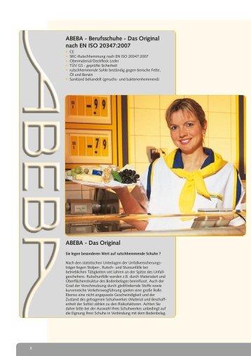 ABEBA - Berufsschuhe - Das Original nach EN ISO 20347:2007 ...