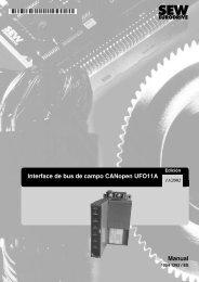 Interface de bus de campo CANopen UFO11A ... - SEW Eurodrive