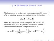 Multivariate Normal and Bioassay Example