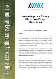 How to Improve Battery Life in Low Power Electronics - AVX