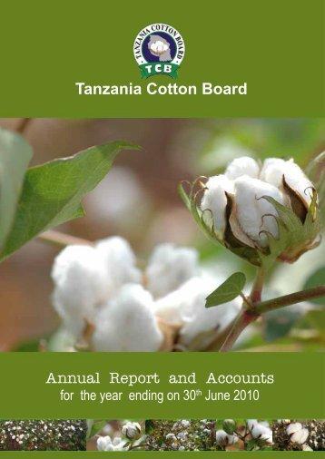 Tanzania Cotton Board Annual Report And Accounts
