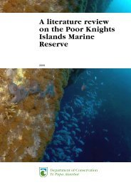 A literature review on the Poor Knights Islands Marine Reserve - 2009