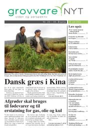 Dansk græs i Kina