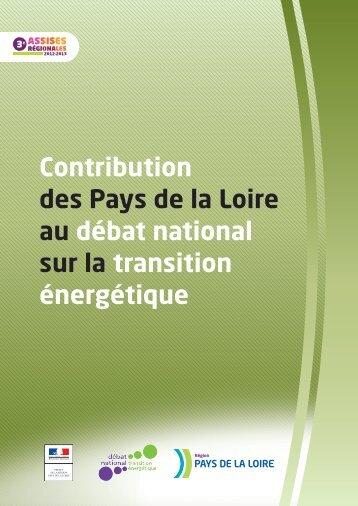 Transition énergétique. La contribution des Pays de la Loire (PDF ...