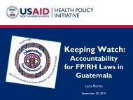 Keeping Watch: Accountability for FP/RH Laws in Guatemala