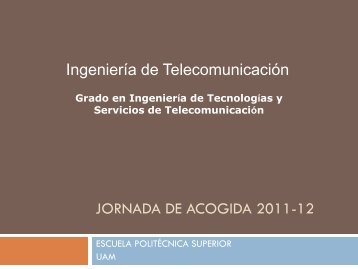 Presentación del Grado en Ingeniería de Tecnologías y Servicios de ...
