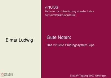 Gute Noten: Das virtuelle Prüfungssystem Vips - Stud.IP