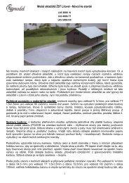 Model skladiště ŽST Litovel - Návod ke stavbě