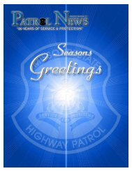 November - December - State Highway Patrol