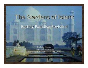 The Gardens of Islam: - Texas Tech University