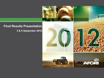 Final Results Presentation - Afgri