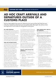 Ad hoc craft arrivals and departures outside of a Customs place