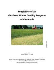 Feasibility of an On-Farm Water Quality Program in Minnesota
