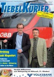 Direktzug nach Klagenfurt - Tiebelkurier
