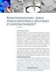 NANOTECHNOLOGIES :QUELS ENJEUX ... - Admiroutes