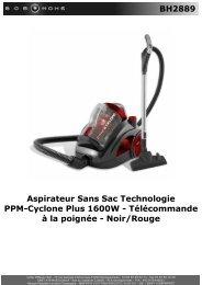 BH2889 Aspirateur Sans Sac Technologie PPM ... - BOB HOME