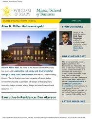 Stories of Revolutionary Thinking - Mason School of Business ...