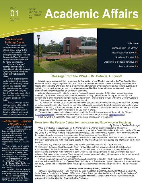 Snhu Academic Calendar.Academic Affairs Snhu Academic Archive Southern New