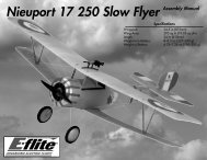 Nieuport 17 250 Slow Flyer Assembly Manual - Great Hobbies