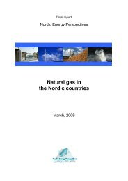 Natural gas in the Nordic countries - Nordicenergyperspectives.org