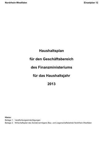 Deckblatt 12 / Vorwort - Finanzministerium NRW