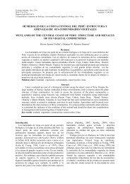 humedales de la costa central del perú: estructura y ... - SciELO