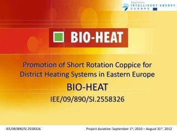 project presentation - BIO-HEAT