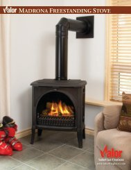 MADRONA FREESTANDING STOVE - Valor