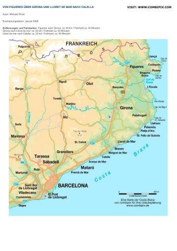 von figueres über girona und lloret de mar nach calella visit - Combipix