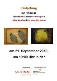 Einladung am 21. September 2010, um 19:00 Uhr in ... - Galerie KoKo