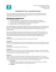 Standards for Nurse Anesthesia Practice - American Association of ...