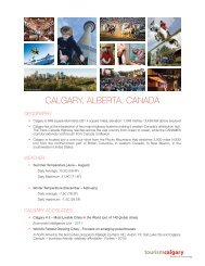 CALGARY, ALBERTA, CANADA - Tourism Calgary