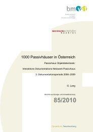 1000 Passivhäuser in Österreich - Haus der Zukunft
