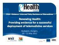 Renewing Health: Renewing Renewing Health: Providing evidence ...