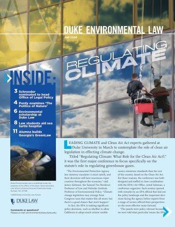 DUKE ENVIRONMENTAL LAW In - Duke University School of Law