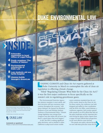 DUKE ENVIRONMENTAL LAW In - Duke University School of Law