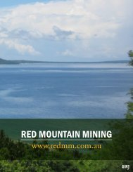 RED MOUNTAIN MINING - The International Resource Journal