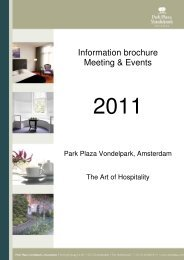 Information brochure Meeting & Events - PPHE Hotel Group