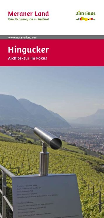 Hingucker - Architektur im Focus (PDF - 2,64 MB) - Meraner Land
