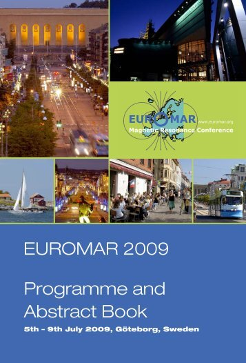 NEW: Programme and Abstract Book - Euromar 2009