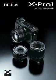 Brochure du Fujifilm X-Pro1