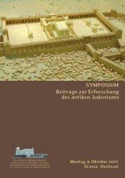 SYMPOSIUM Beiträge zur Erforschung des antiken Judentums