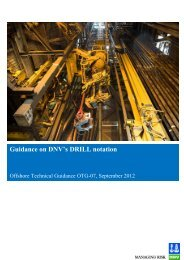 Guidance on DNV's DRILL notation
