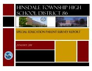 Special Education Survey Results - Hinsdale Township High School ...